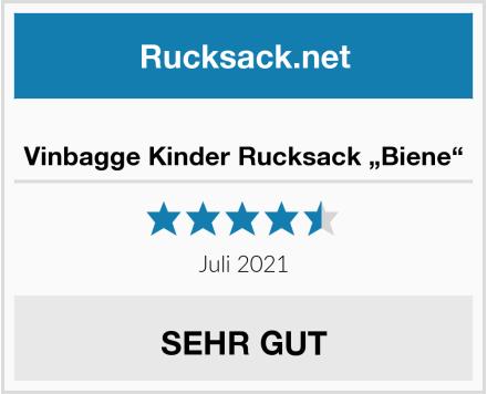 "Vinbagge Kinder Rucksack ""Biene"" Test"