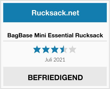 BagBase Mini Essential Rucksack Test