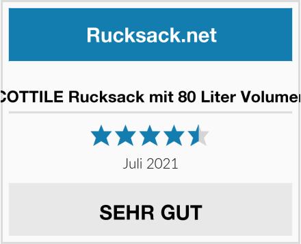 COTTILE Rucksack mit 80 Liter Volumen Test