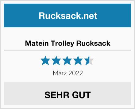 Matein Business Trolley Rucksack Test