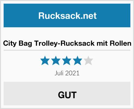City Bag Trolley-Rucksack mit Rollen Test