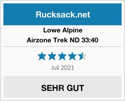 Lowe Alpine Airzone Trek ND 33:40 Test