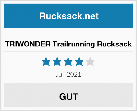 TRIWONDER Trailrunning Rucksack Test