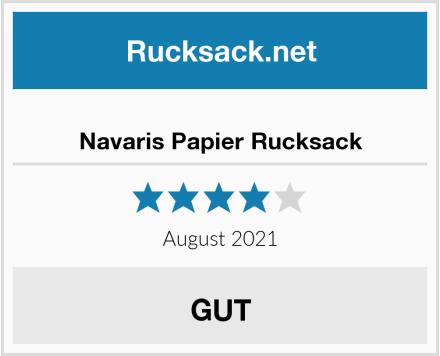 Navaris Papier Rucksack Test