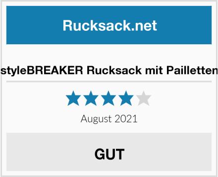 styleBREAKER Rucksack mit Pailletten Test