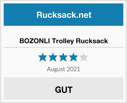 BOZONLI Trolley Rucksack Test