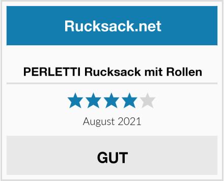 PERLETTI Rucksack mit Rollen Test