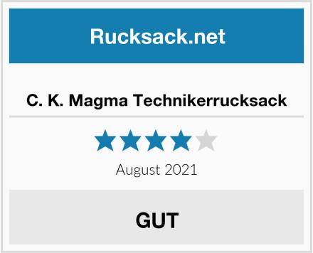 C. K. Magma Technikerrucksack Test