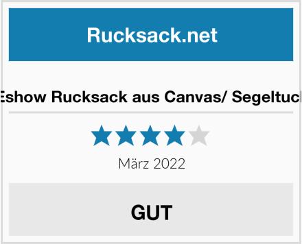 Eshow Rucksack aus Canvas/ Segeltuch Test