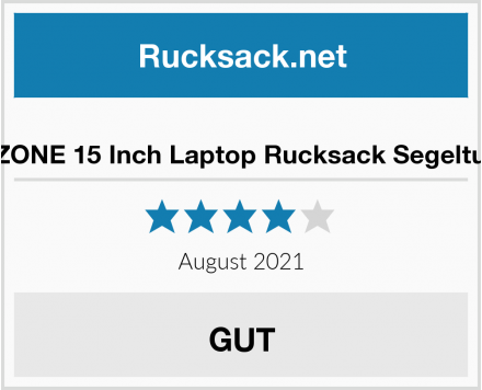 S-ZONE 15 Inch Laptop Rucksack Segeltuch Test