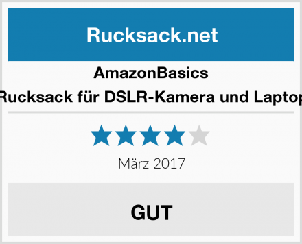 AmazonBasics Rucksack für DSLR-Kamera und Laptop Test