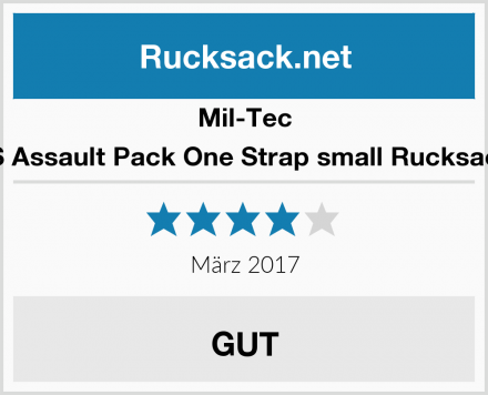 Mil-Tec US Assault Pack One Strap small Rucksack  Test