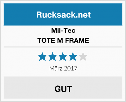Mil-Tec TOTE M FRAME Test