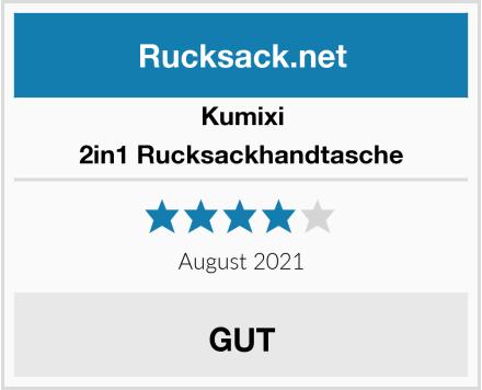 Kumixi 2in1 Rucksackhandtasche Test