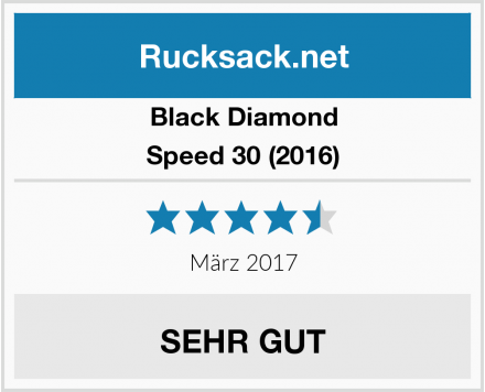 Black Diamond Speed 30 (2016) Test