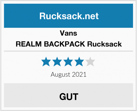 Vans REALM BACKPACK Rucksack Test
