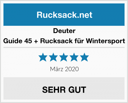 Deuter Guide 45 + Rucksack für Wintersport Test