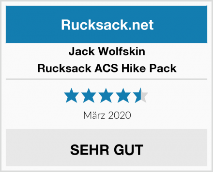 Jack Wolfskin Rucksack ACS Hike Pack Test