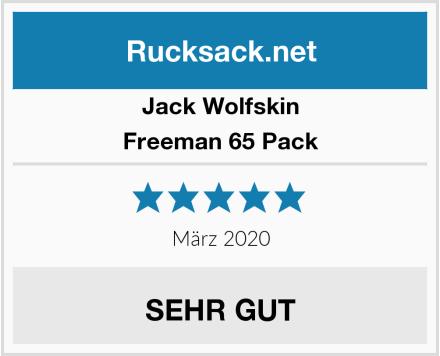 Jack Wolfskin Freeman 65 Pack Test