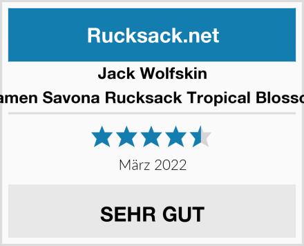 Jack Wolfskin Damen Savona Rucksack Tropical Blossom Test