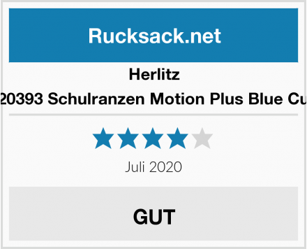 Herlitz 50020393 Schulranzen Motion Plus Blue Cubes Test