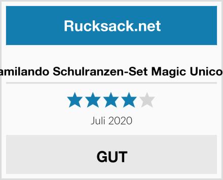 Familando Schulranzen-Set Magic Unicorn Test