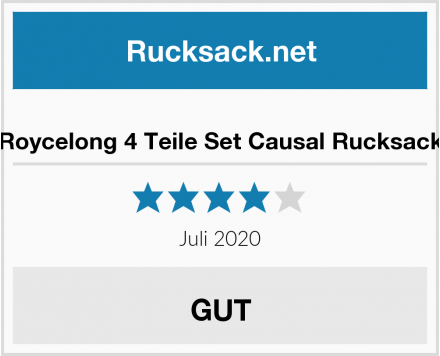 Roycelong 4 Teile Set Causal Rucksack Test