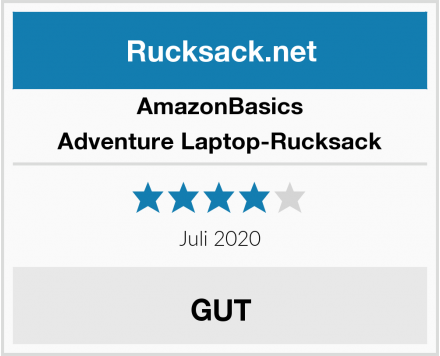 AmazonBasics Adventure Laptop-Rucksack Test