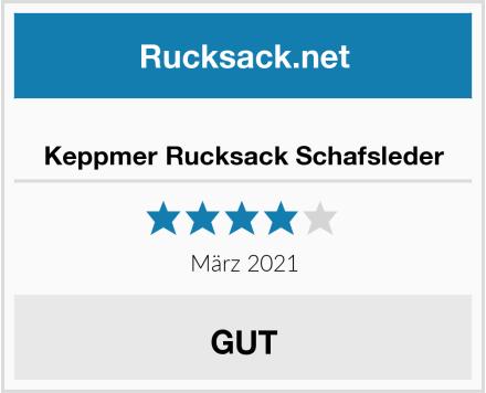 Keppmer Rucksack Schafsleder Test