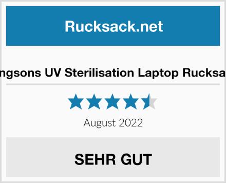 Kingsons UV Sterilisation Laptop Rucksack Test