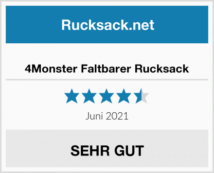 4Monster Faltbarer Rucksack Test