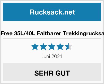 G4Free 35L/40L Faltbarer Trekkingrucksack Test