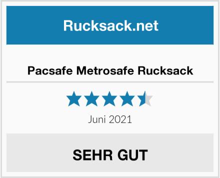 Pacsafe Metrosafe Rucksack Test