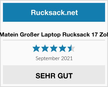 Matein Großer Laptop Rucksack 17 Zoll Test