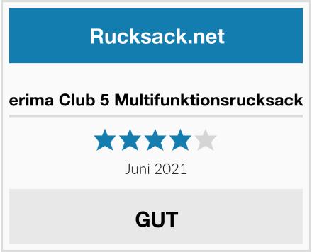 erima Club 5 Multifunktionsrucksack Test