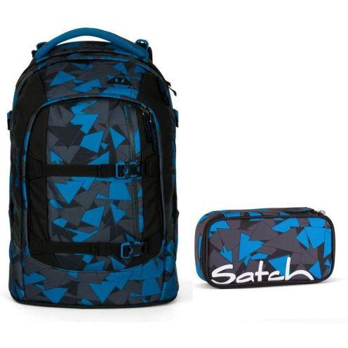Satch 2tlg. Set Schulrucksack Blue Triangle