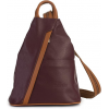 LIATALIA Unisex Soft Italian Leather Rucksack