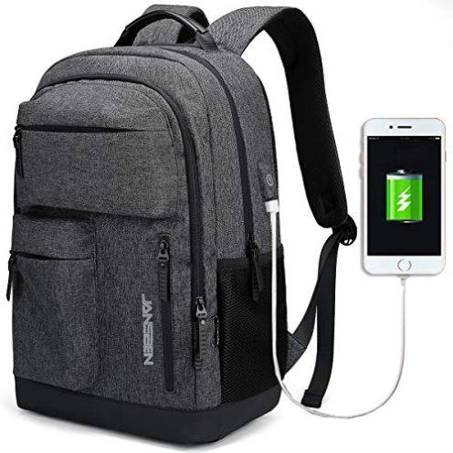 JANSBEN Rucksack mit USB-Anschluss
